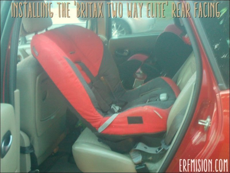 How to install: Britax Two Way Elite rear facing (Toddler Tube) - A ...
