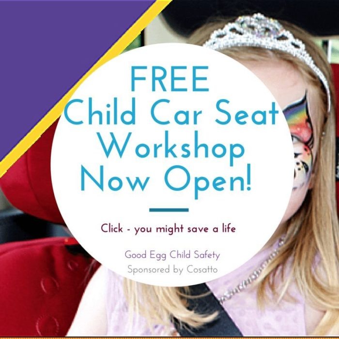 free child car seat workshop