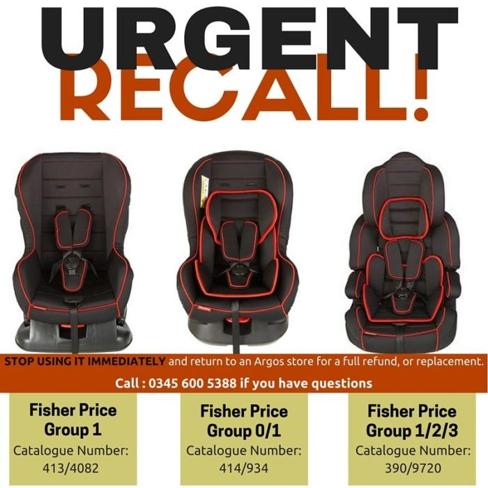 Urgent! Recall of Fisher Price Car Seats! - A Rear Facing Family