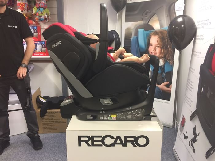 fred in recaro zero 1 elite showing recline a rear. Black Bedroom Furniture Sets. Home Design Ideas
