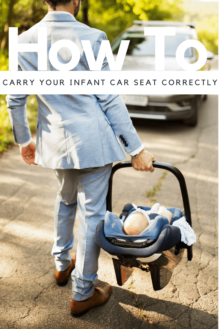 how to carry the infant seat